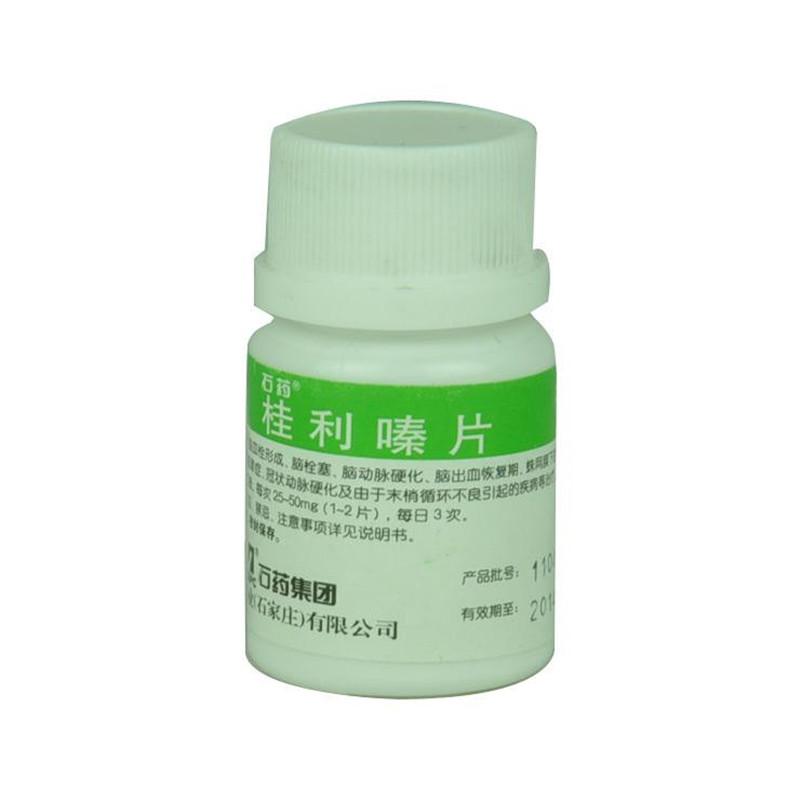 桂利嗪片(肉桂苯哌嗪)