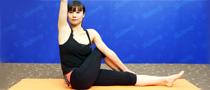 扭转式坐姿瘦腹瑜伽