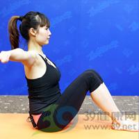 滑翔式产后瘦腹瑜伽3