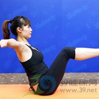 滑翔式产后瘦腹瑜伽5