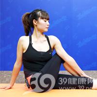 扭转式产后瘦腹瑜伽3