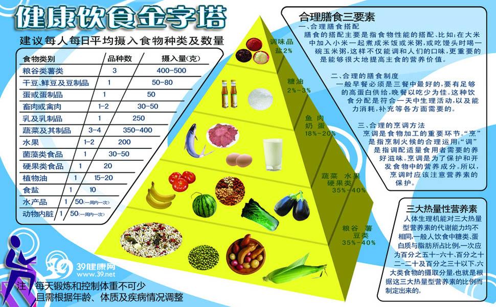 饮食健康金字塔