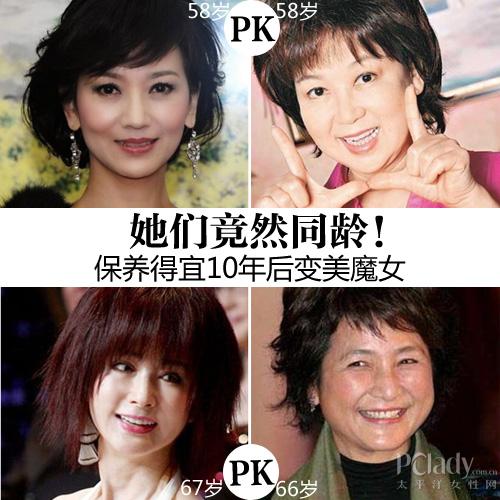 【美容】她们竟然同龄!保养得宜10年后变美魔女