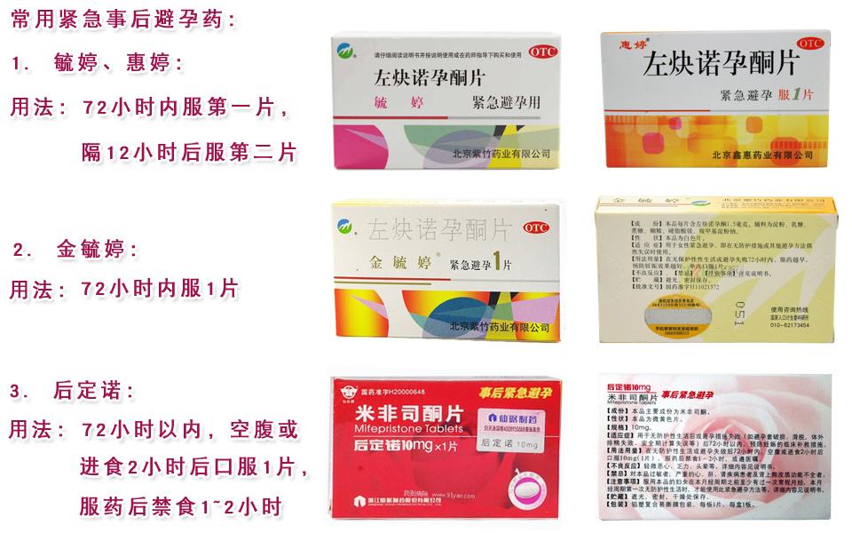 紧急避孕药服用方法