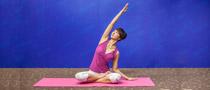 下期主题:腰侧弯式瘦腰瑜伽