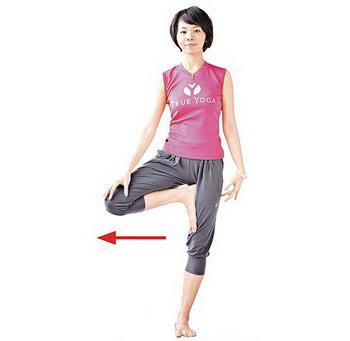 超简单的双向减肥瑜伽冬季倾斜下半身(照片)
