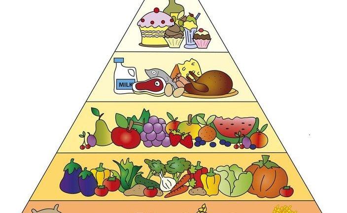 平衡膳食的金字塔