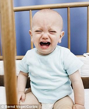 襁褓哭泣的孩子手绘