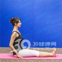 坐角式瘦腿瑜伽1