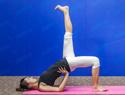 斜式变形瑜伽瘦腿