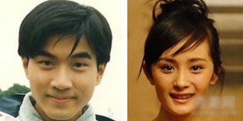 杨幂刘恺威老照片,两人的长相都不属于明星脸,早期的刘恺威长得