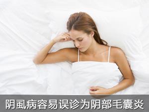 阴虱病容易误诊为阴部毛囊炎
