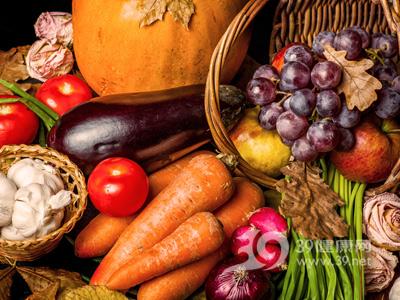 蔬菜-胡萝卜-西红柿-提子-南瓜-蒜头-茄子-洋葱_22626810_xxl