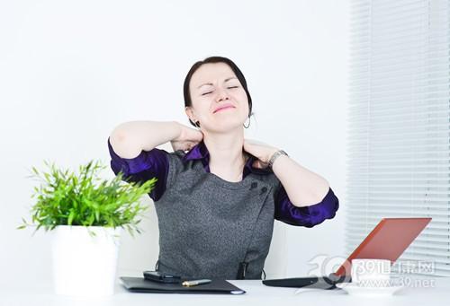 青年 女 办公 工作 商务 休息 颈椎 脖子 疼痛 电脑_13151478_xxl