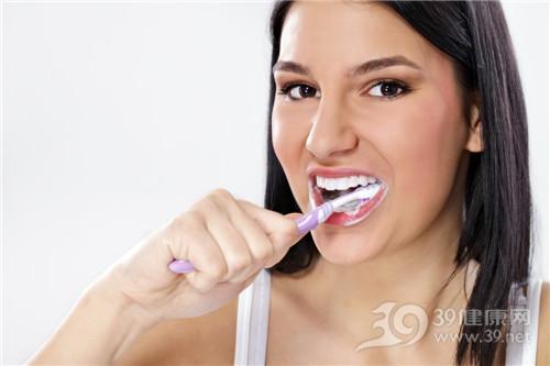 青年 女 刷牙 牙刷 牙齿_12781424_xxl
