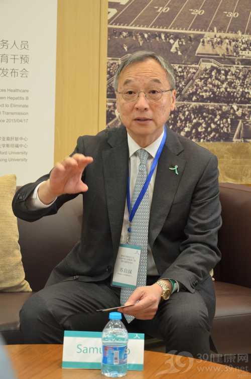 斯坦福大学亚裔肝脏中心执行主任苏启深教授接受采访