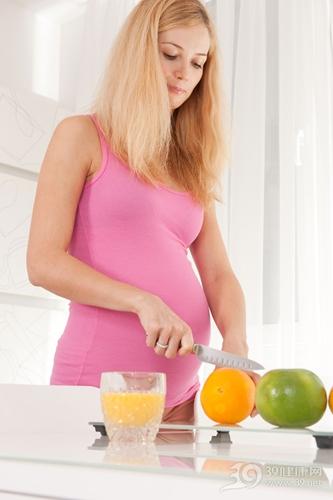 青年 女 怀孕 孕妇 水果 橙子 橙汁 橘子_11884294_xxl