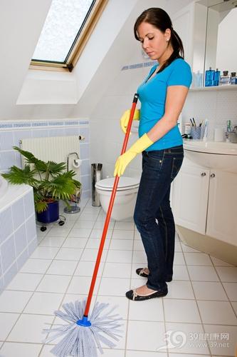 中年 女 清洁 打扫 搞卫生 大扫除 地拖 拖地 拖把 洗手间_8007640_xxl
