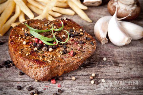 肉类 牛肉 牛扒 胡椒 蒜头 薯条_14815773_xxl