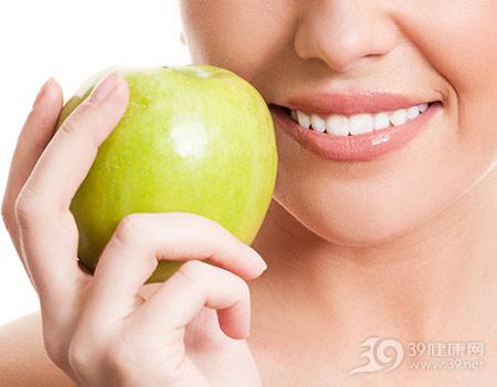 青年-女-牙齿-苹果_13895712_xxl