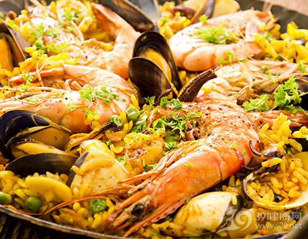 海鲜饭,海鲜,虾
