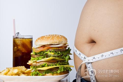 男 肥胖 减肥 快餐 汉堡 薯条 可乐 腰围 肚子_14319636_xxl