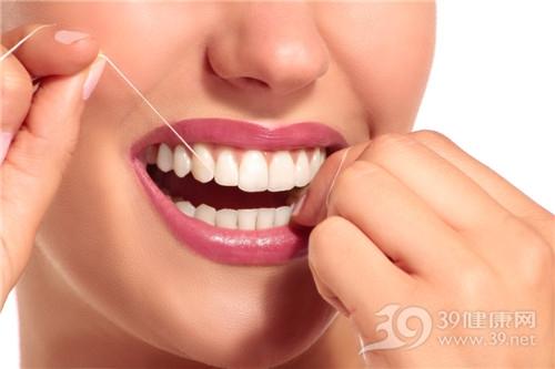 青年 女 牙齿 牙线 剔牙 牙缝 口腔清洁_30316914_xxl
