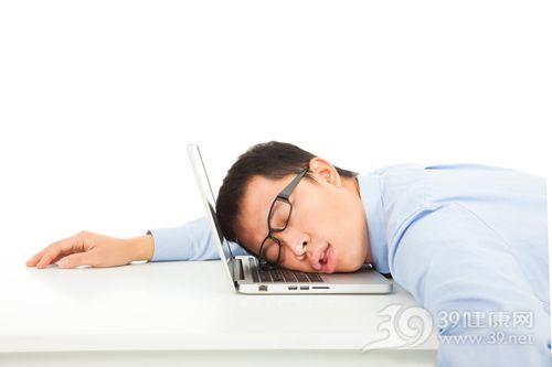 青年 男 睡觉 电脑 工作 商务 眼镜_25681922_xxl