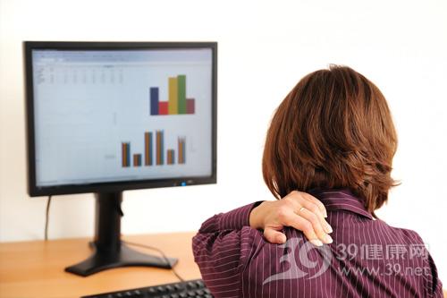 白领-电脑族-颈椎病-脖子痛