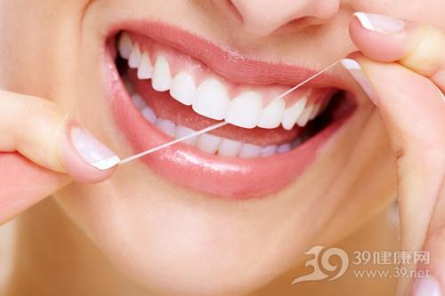 牙线 剔牙 牙齿 嘴唇_18587665_xxl