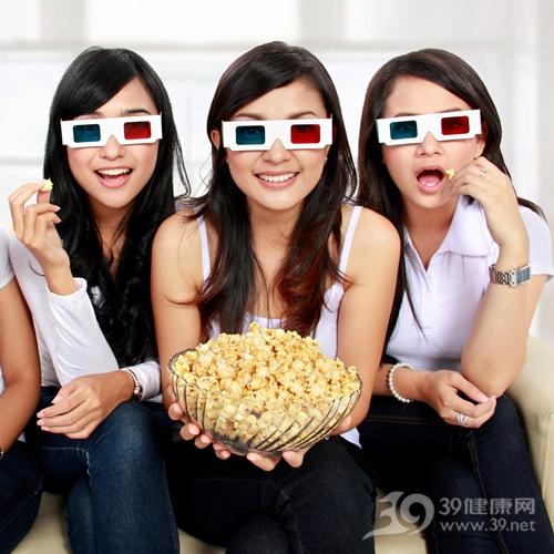 青年 女 电影 爆米花_17705534_xl