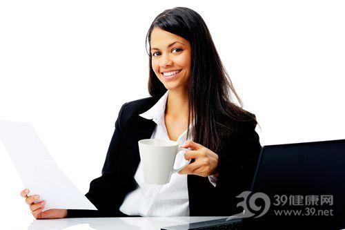 青年 女 工作 商务 咖啡 杯子 文件_12347496_xxl