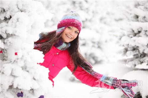 青年 女 时节 冬天 下雪 羽绒 帽子_8826475_xl