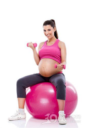 孕妇 怀孕 瑜伽 运动 哑铃_16860914_xxl