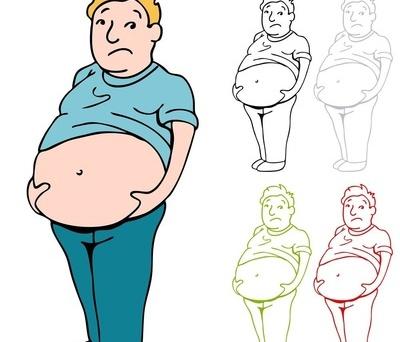 女胖子可爱卡通图片