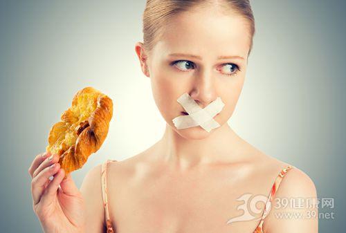青年 女 面包 吃东西 禁食 胶布_18630409_xxl