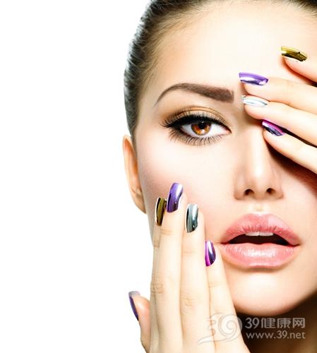 青年 女 化妆 指甲油 脸部_18098413_xxl