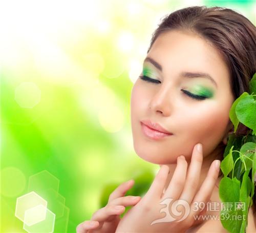 青年 女 美容 护肤 皮肤 绿叶_10996523_xl