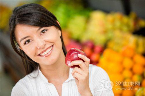 青年 女 苹果 水果_16672042_xxl