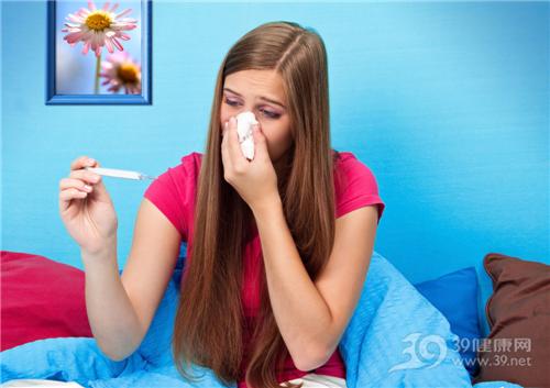 青年 女 生病 感冒 发烧 体温计_7588275_xl