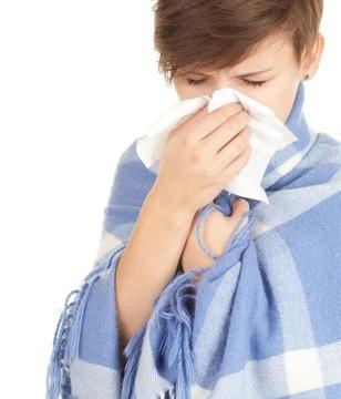 青年-女-感冒-生病-保暖-围巾-纸巾_10992302_xxl