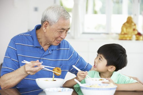中老年 青年 男 女 儿童 家庭 吃饭 餐桌_18709951_xxl