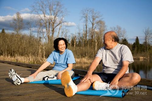 中老年 男 女 运动 瑜伽 健身 伸展_ 2954484_xxl