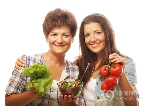 中老年 青年 女 蔬菜 生菜 西红柿 沙拉_31847055_xxl
