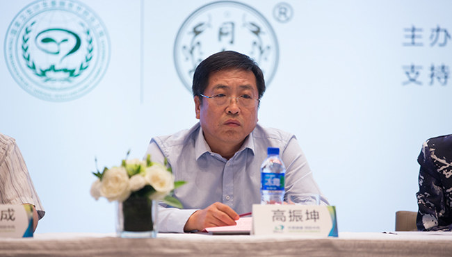 同仁堂总经理高振坤在防治中风宣传月启动仪式上发表讲话