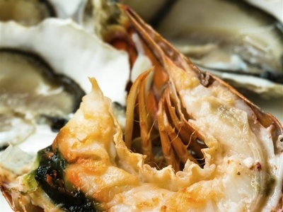 炒海螵蛸:表面微黄色