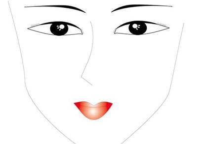 手绘男生眼睛模板图