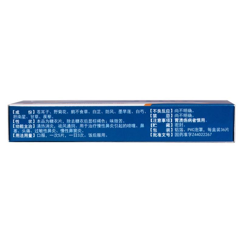 防芷鼻炎片(白云山)