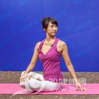 腰旋转式瘦腰瑜伽3