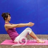 腰侧弯式瘦腰瑜伽3